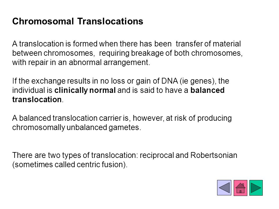 Chromosomal Translocations