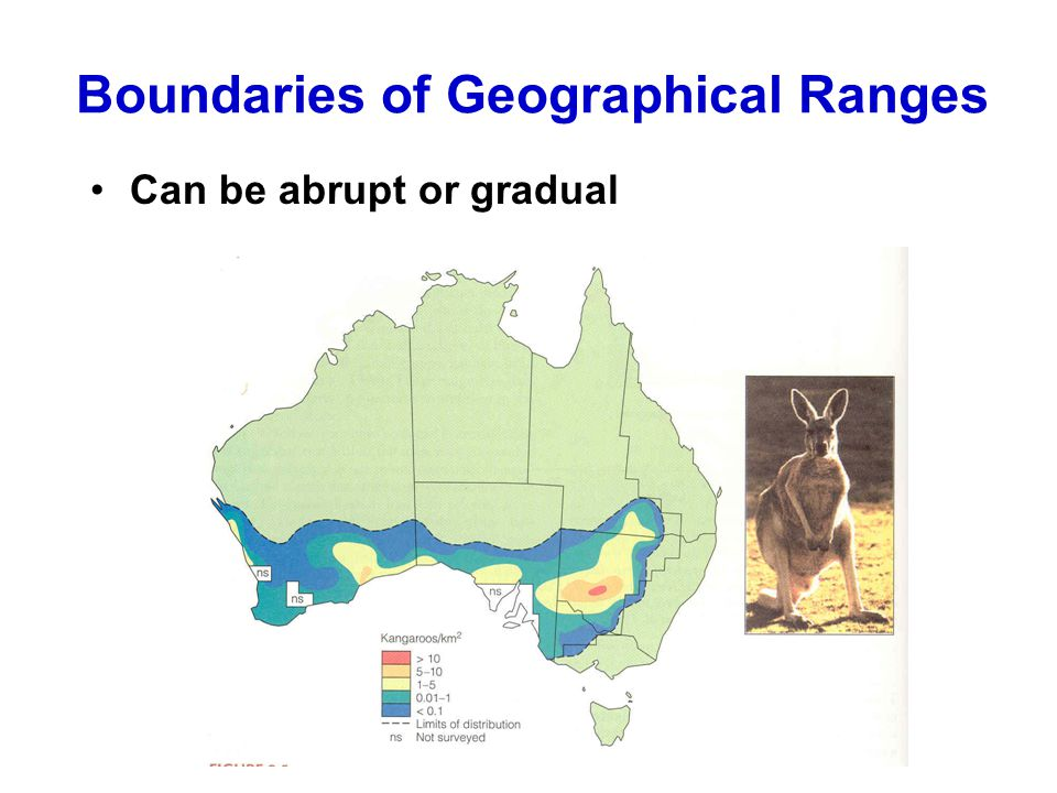 Boundaries of Geographical Ranges