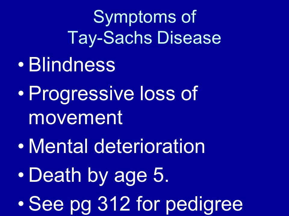 Symptoms of Tay-Sachs Disease