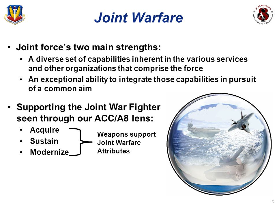 Joint Warfare Joint force's two main strengths: