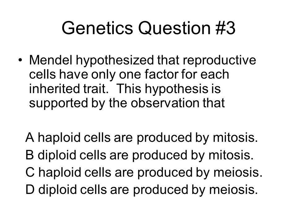 Genetics Question #3