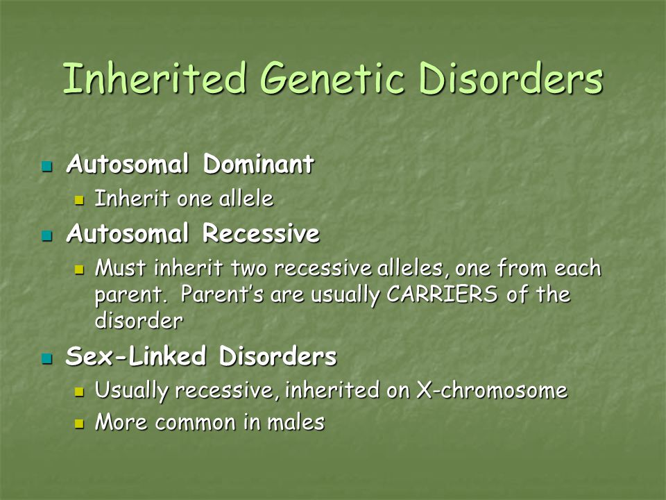 Inherited Genetic Disorders