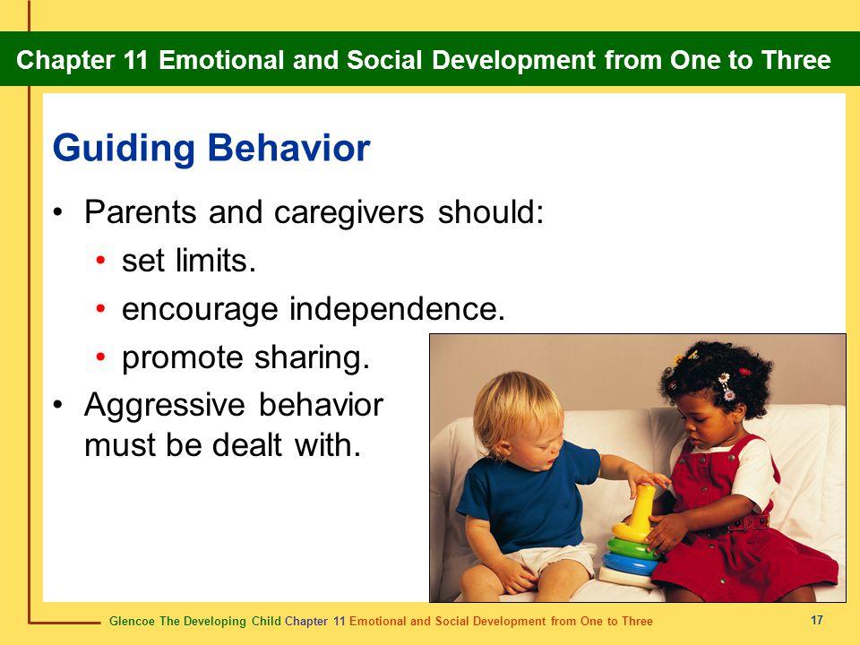 Guiding Behavior Parents and caregivers should: set limits.