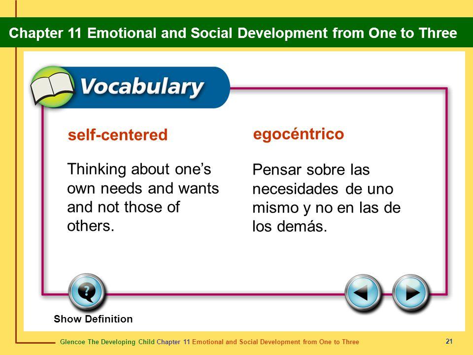 self-centered egocéntrico