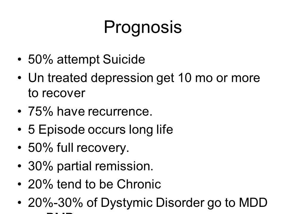 Prognosis 50% attempt Suicide