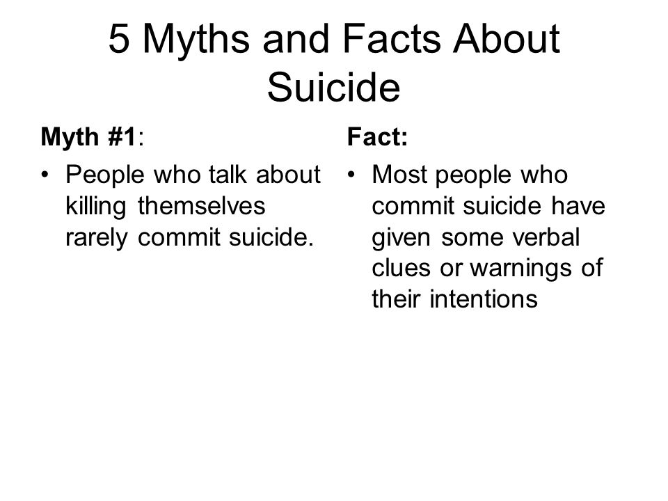 5 Myths and Facts About Suicide