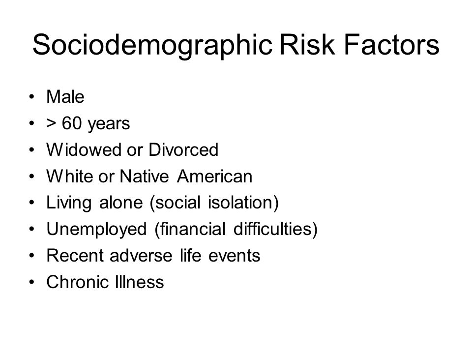 Sociodemographic Risk Factors
