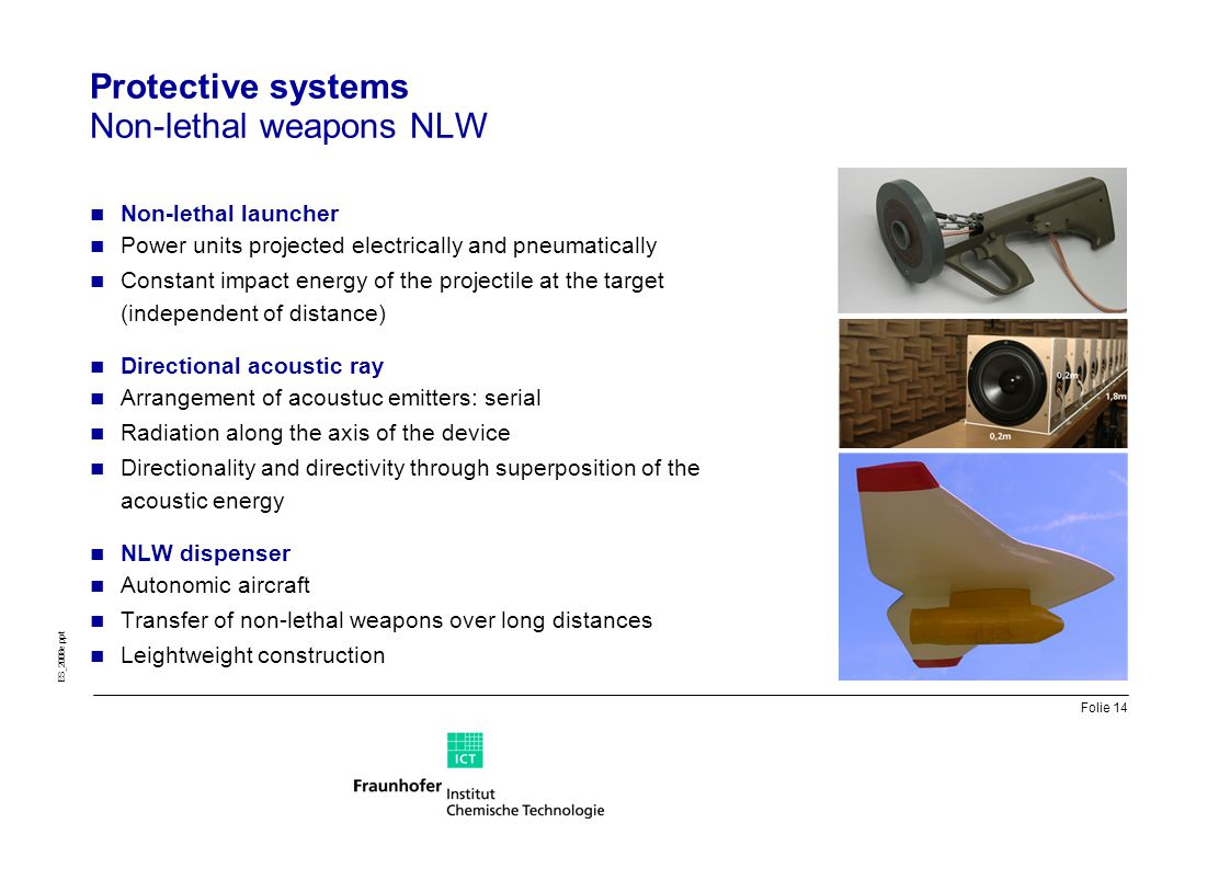 Protective systems Non-lethal weapons NLW