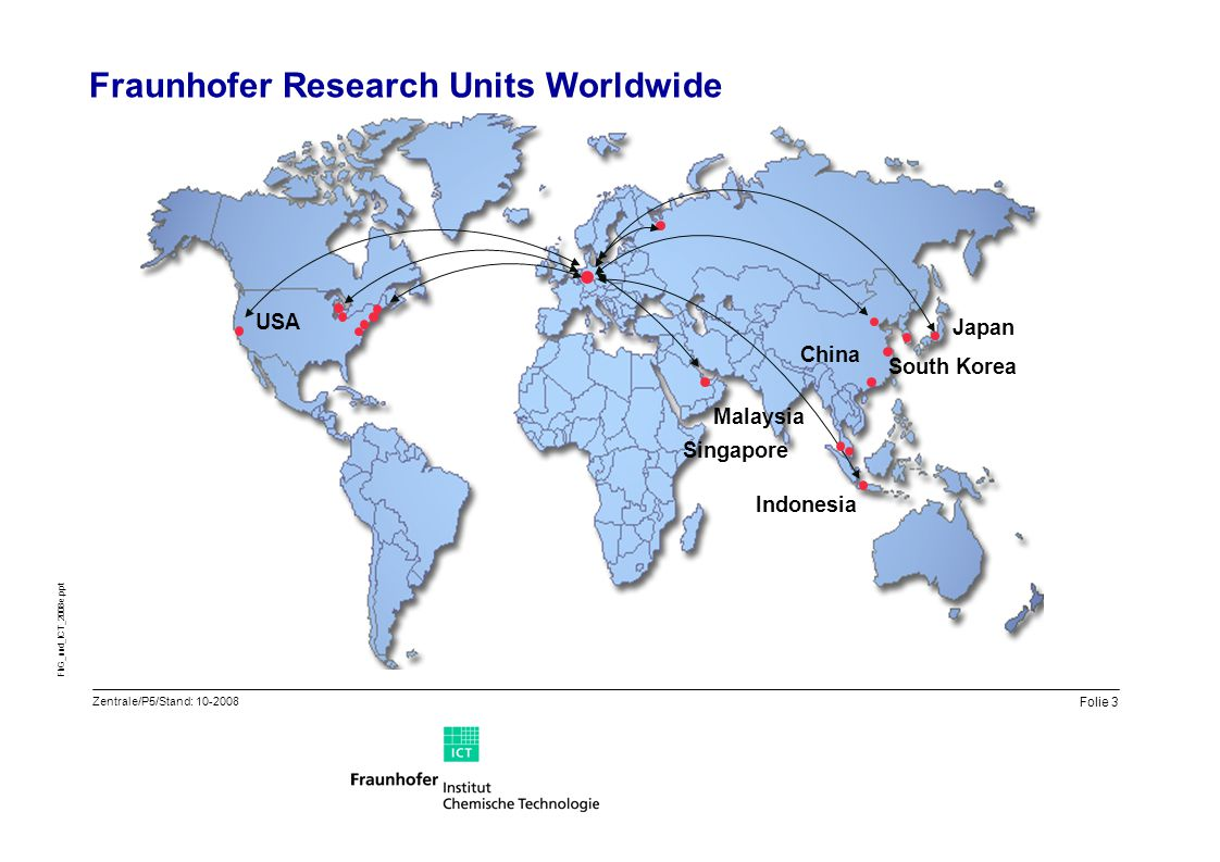 Fraunhofer Research Units Worldwide