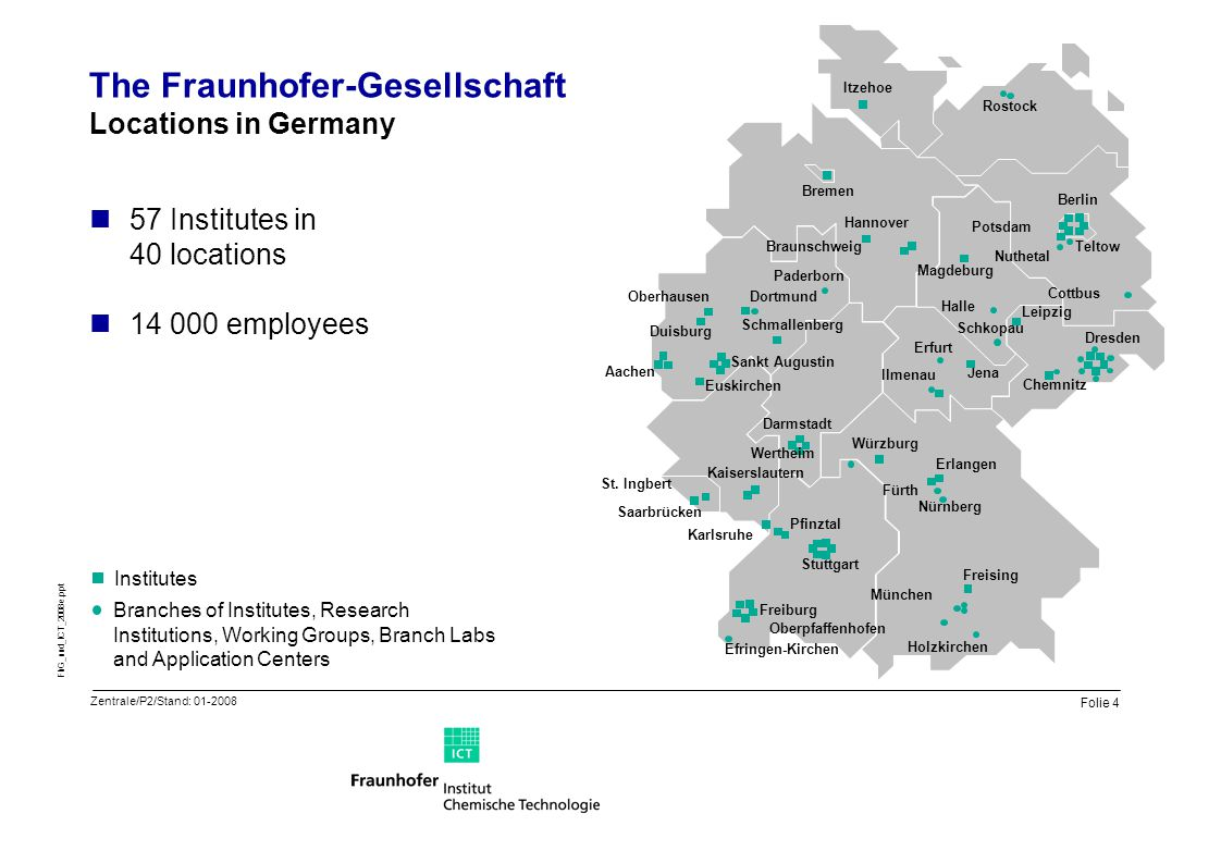 The Fraunhofer-Gesellschaft Locations in Germany