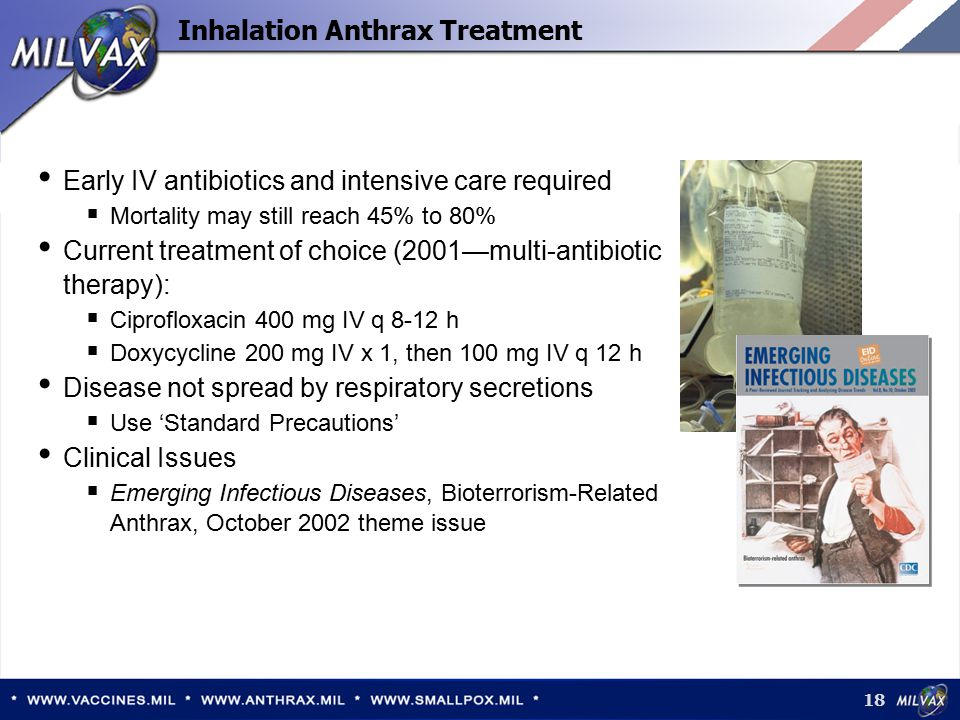 Inhalation Anthrax Treatment