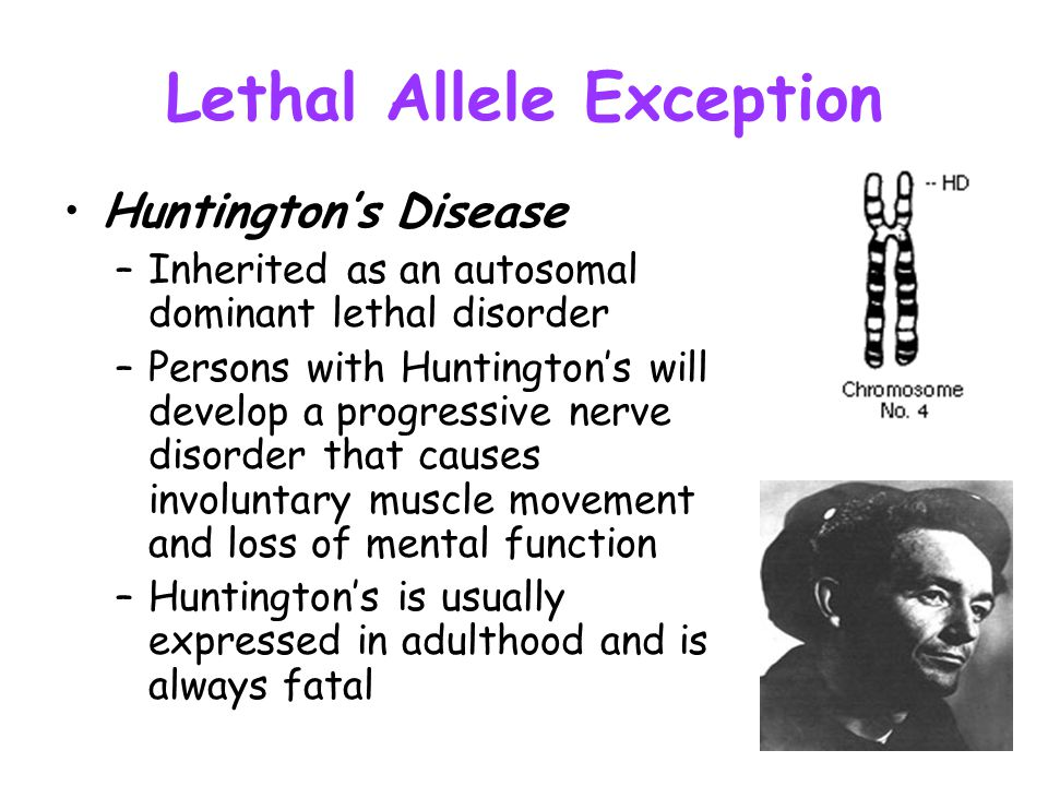 Lethal Allele Exception
