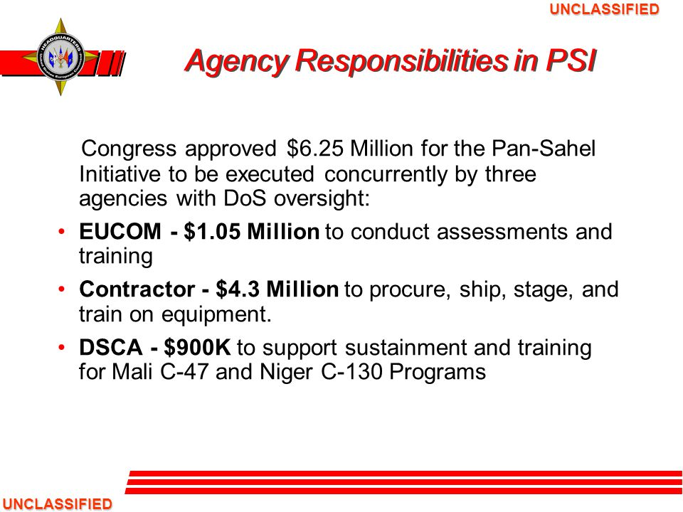 Agency Responsibilities in PSI