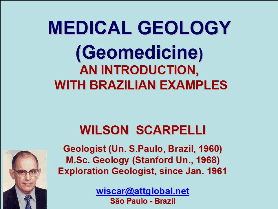 MEDICAL GEOLOGY (Geomedicine)