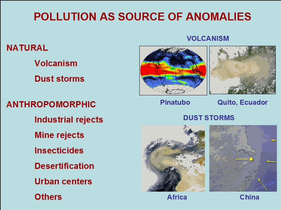 POLLUTION AS SOURCE OF ANOMALIES
