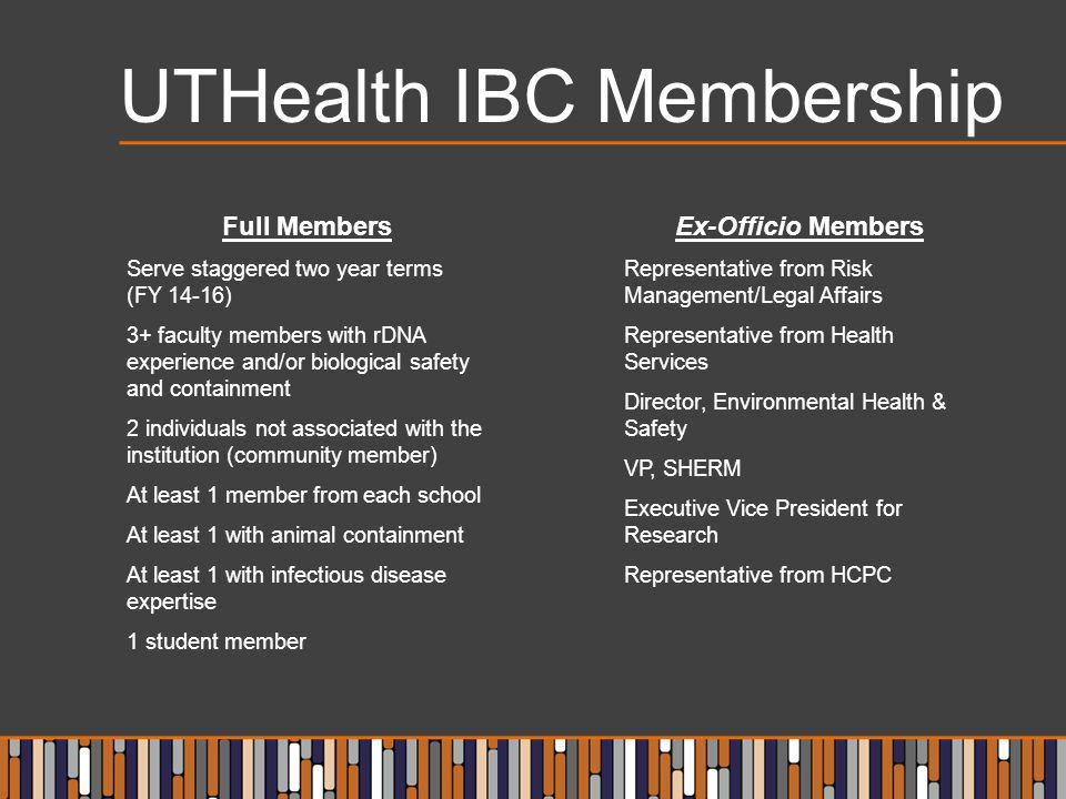UTHealth IBC Membership