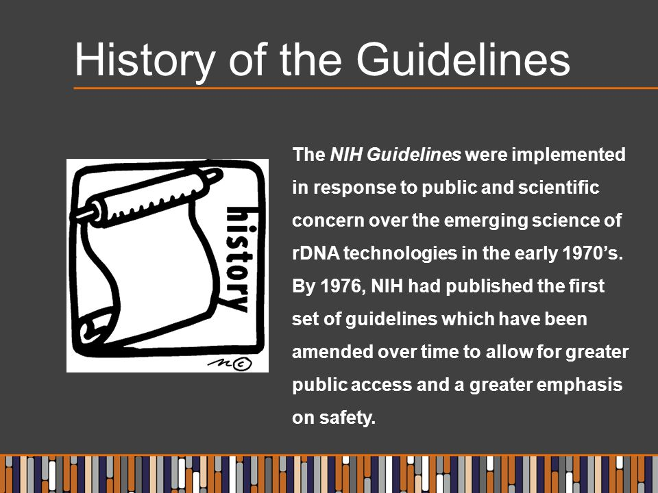 History of the Guidelines
