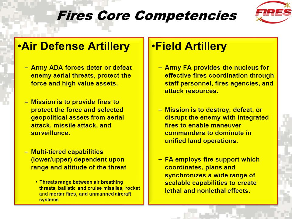 Fires Core Competencies