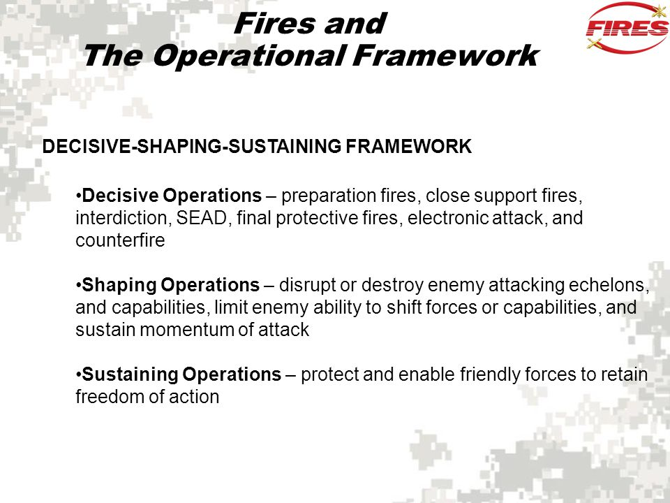 Fires and The Operational Framework