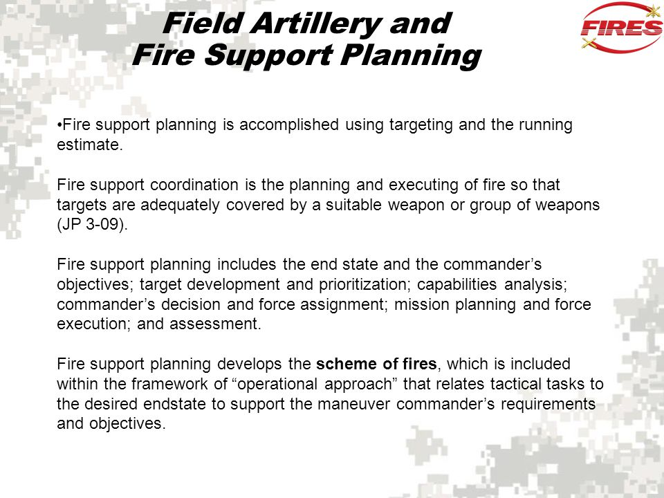 Field Artillery and Fire Support Planning
