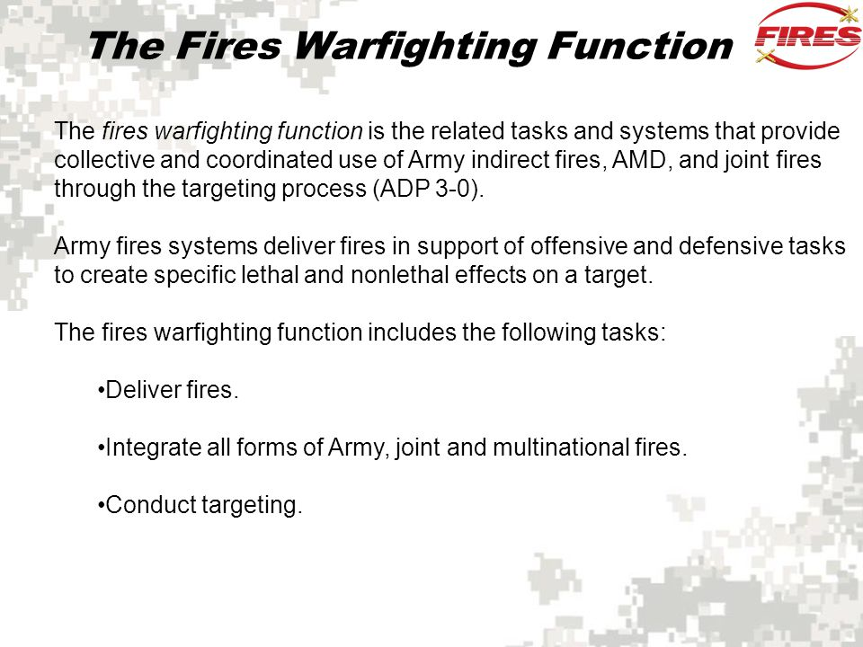 The Fires Warfighting Function