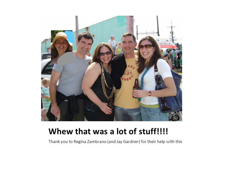 Whew that was a lot of stuff!!!!
