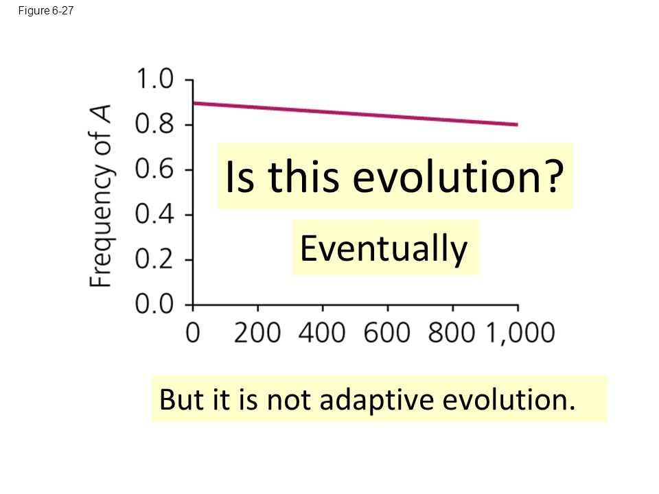 Is this evolution Eventually But it is not adaptive evolution.