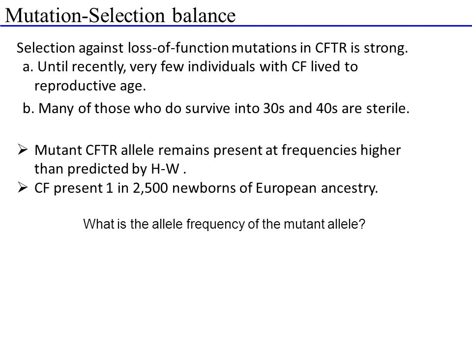What is the allele frequency of the mutant allele