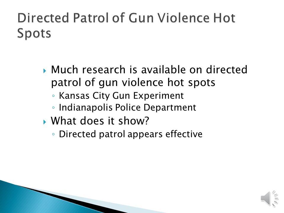 Directed Patrol of Gun Violence Hot Spots