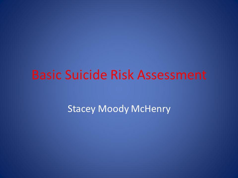 Basic Suicide Risk Assessment