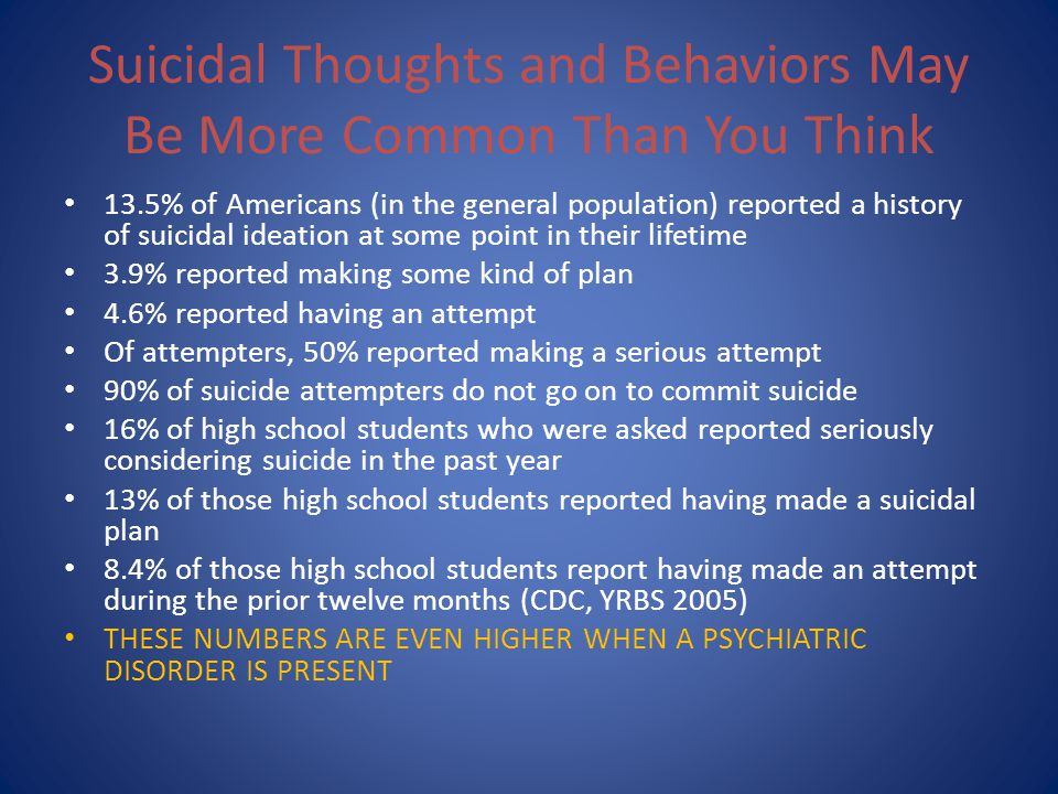 Suicidal Thoughts and Behaviors May Be More Common Than You Think