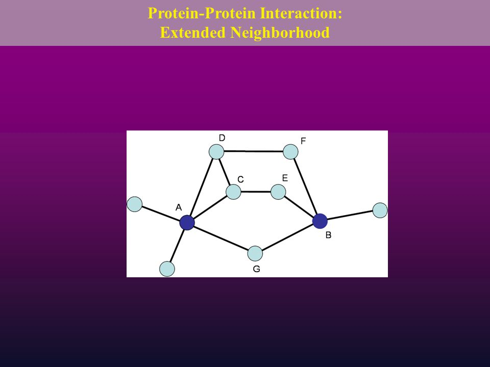 Protein-Protein Interaction: Extended Neighborhood