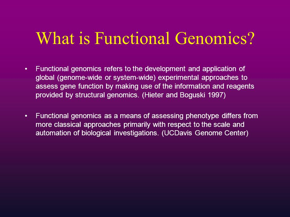 What is Functional Genomics