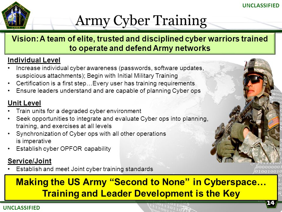 Army Cyber Training Making the US Army Second to None in Cyberspace…