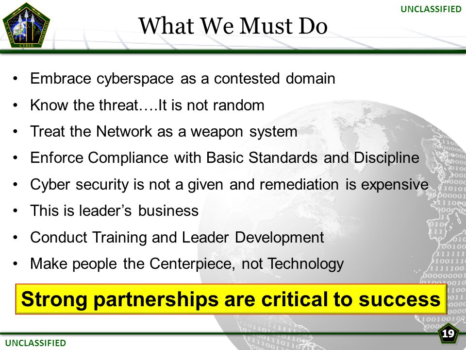 Strong partnerships are critical to success