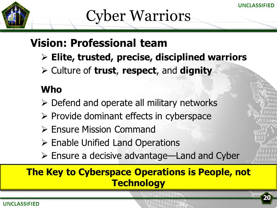 The Key to Cyberspace Operations is People, not Technology