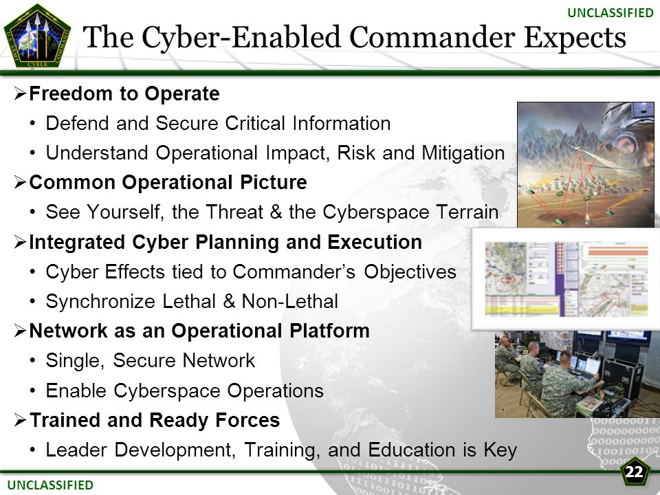 The Cyber-Enabled Commander Expects