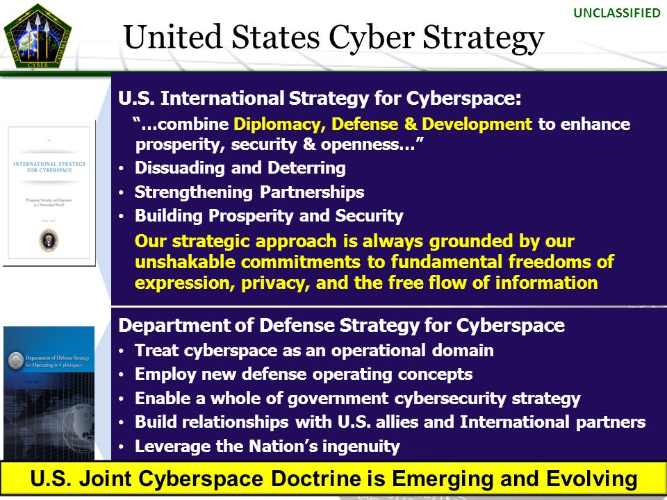 U.S. Joint Cyberspace Doctrine is Emerging and Evolving