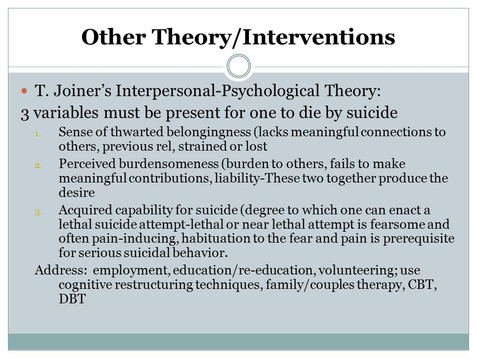 Other Theory/Interventions