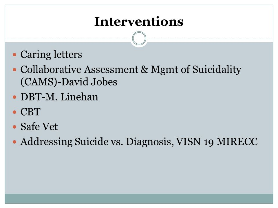 Interventions Caring letters