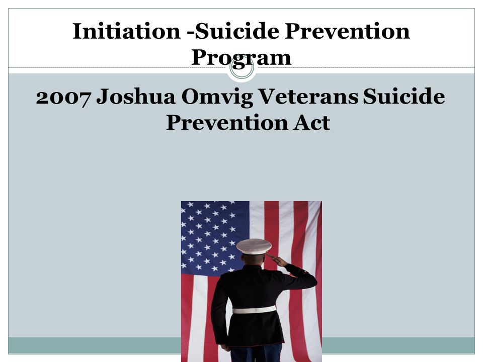 Initiation -Suicide Prevention Program