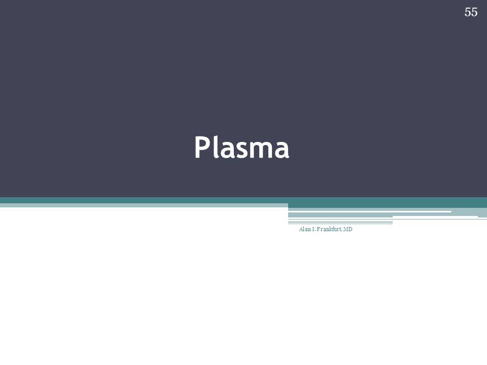 Plasma Alan I. Frankfurt, MD