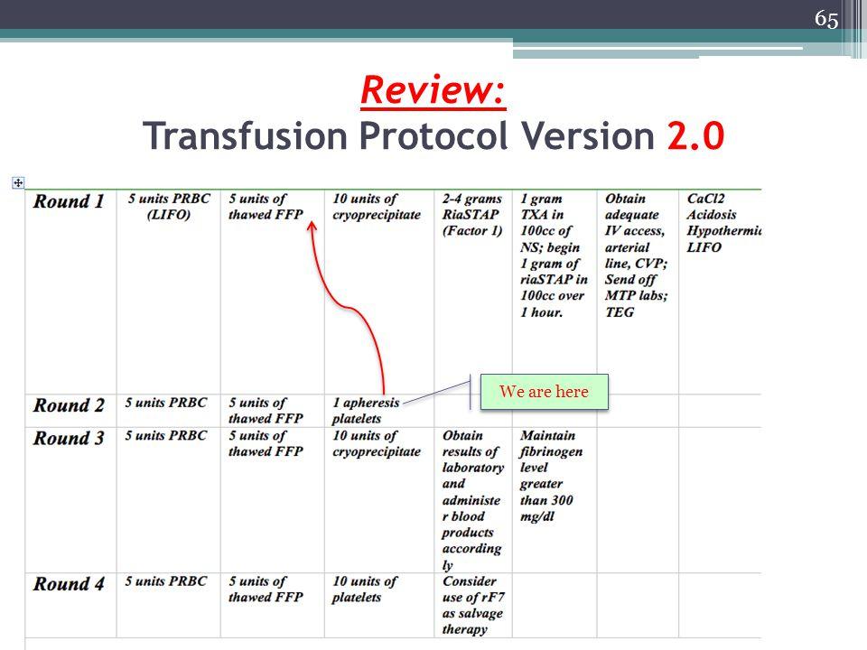Review: Transfusion Protocol Version 2.0