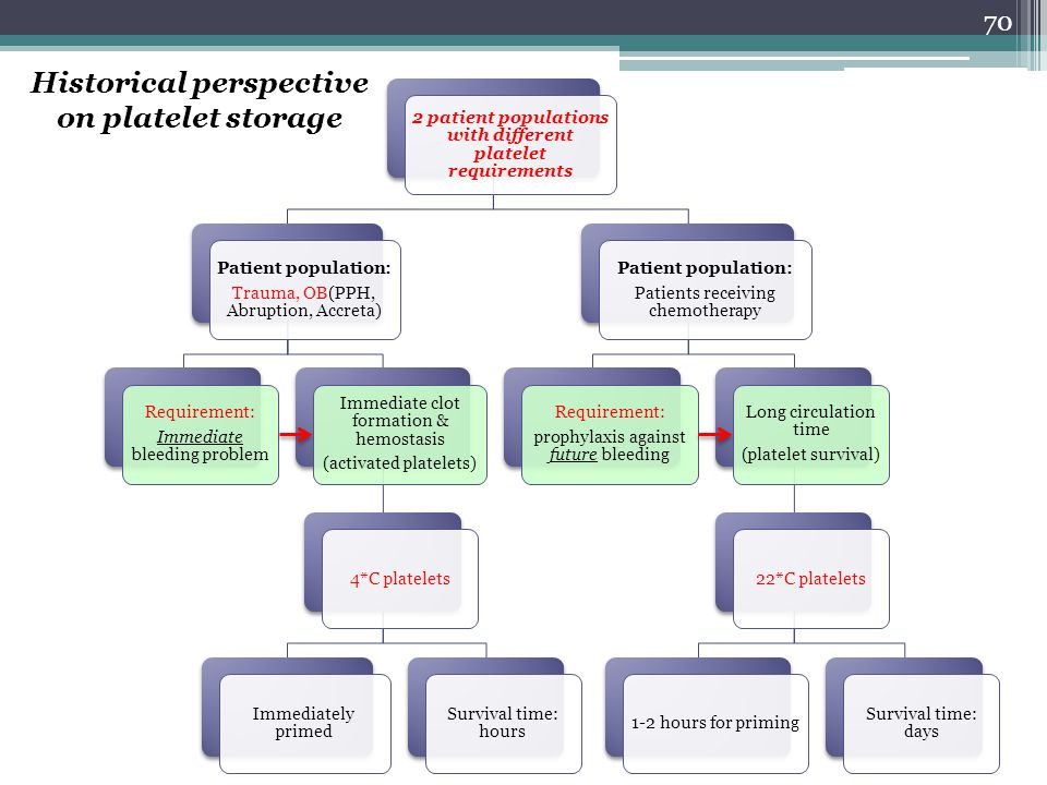 Historical perspective on platelet storage