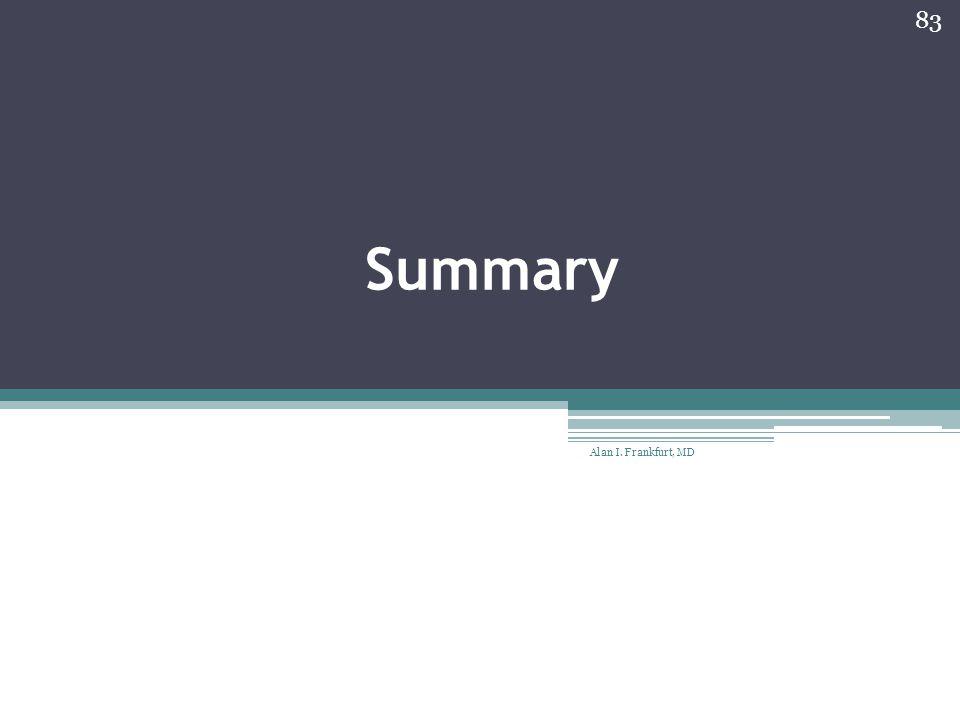 Summary Alan I. Frankfurt, MD