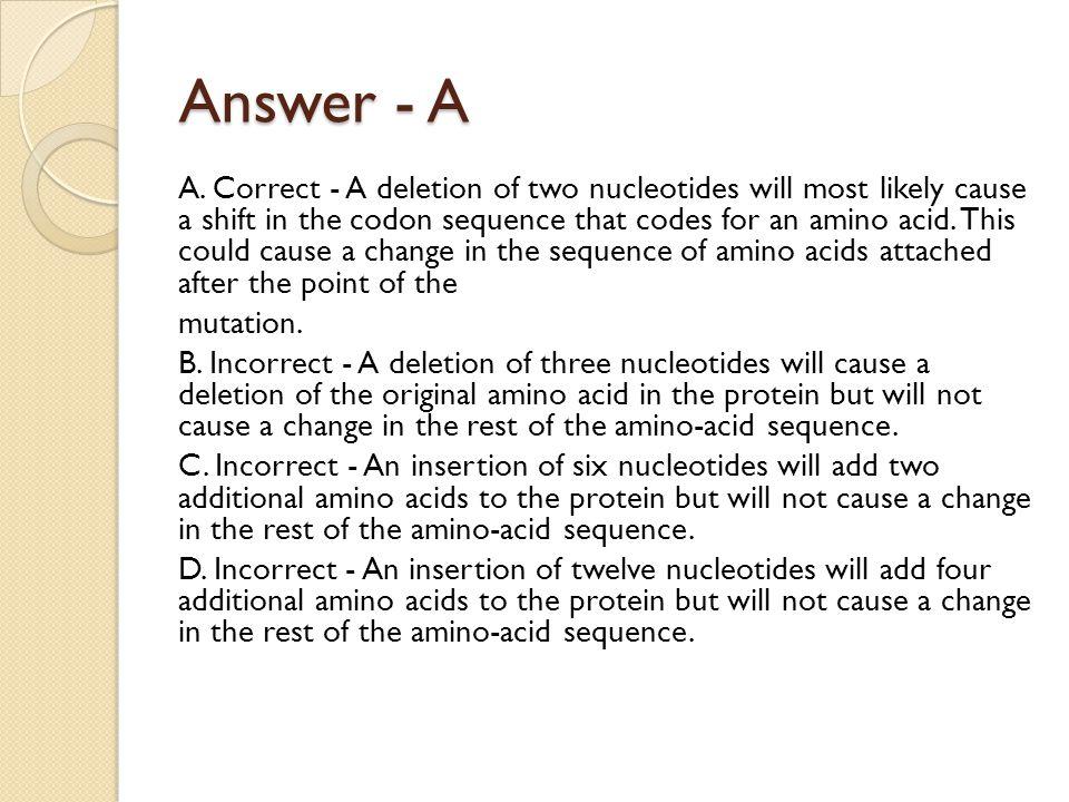Answer - A