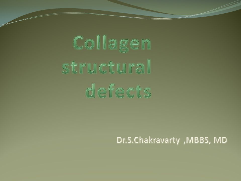 Collagen structural defects
