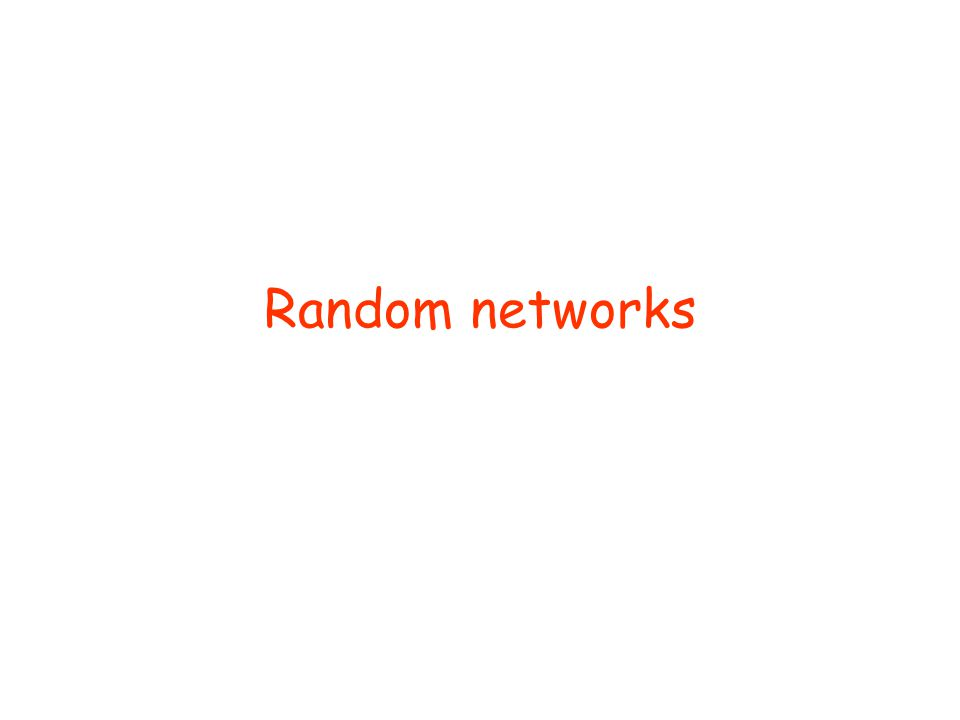 Random networks