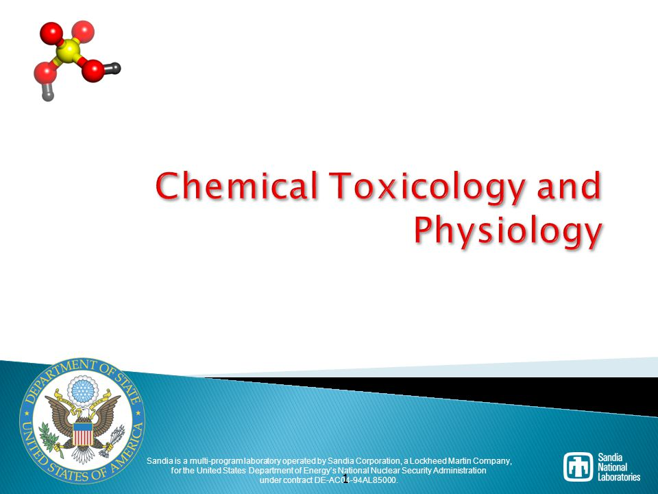 Chemical Toxicology and Physiology