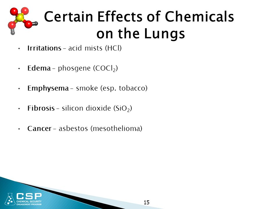 Certain Effects of Chemicals